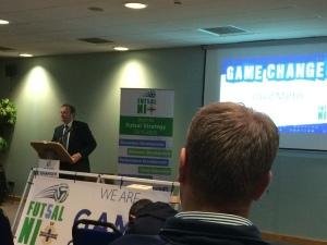 Irish FA President David Martin