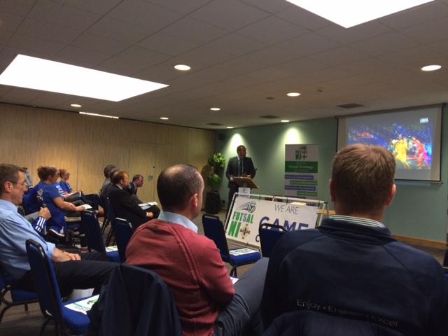 Futsal development back by senior management at today's Irish FA Futsal Strategy launch 2016-2020