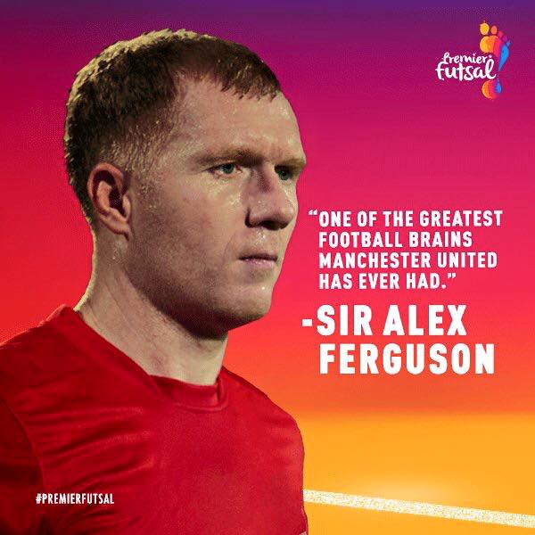 Paul Scholes signs for the Premier Futsal League in India