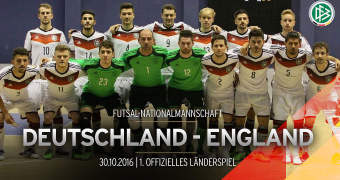 Germany's first official International Futsal match in Hamburg against England