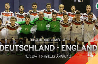 Germany's first official international Futsal matches in Hamburg against England