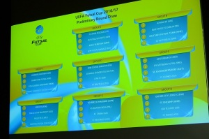Clubs from the British Isles found out who they will be competing against in this year's UEFA Futsal Cup