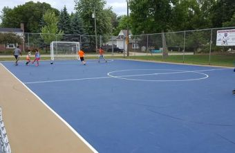 Great work continues in Milwaukee, USA to build outdoor Futsal facilities