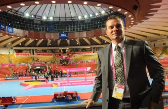 Kris Fernandes live in location at the FIFA Futsal World Cup for Futsal Focus