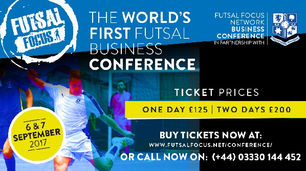 What are the aims of the Futsal Focus Network Business Conference?
