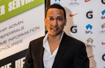 Eldon Abrahams presenting at the Futsal Focus Business Conference