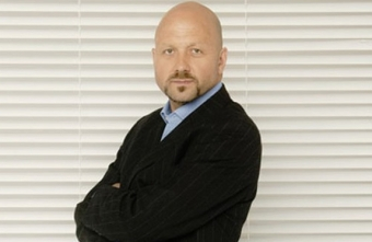 TV presenter Mark Clemmit chairing the Futsal Focus Conference