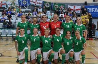 Spirited performances by Northern Ireland throughout their UEFA Futsal Women's EUROs 2018