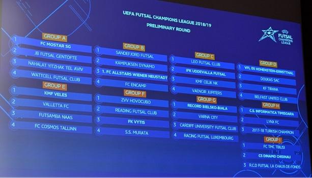 UEFA Futsal Champions League 2018 preliminary rounds kick off ...