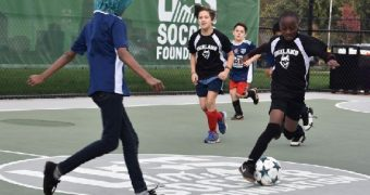 U.S. Soccer Foundation installed its 410 futsal pitch with 1,100 planned by 2026