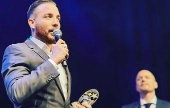 Swedish Futsal International Kristian Legiec receives awards from futsal and football gala