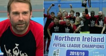 Chris Morgan, former Irish League striker urges more kids to get involved in Futsal