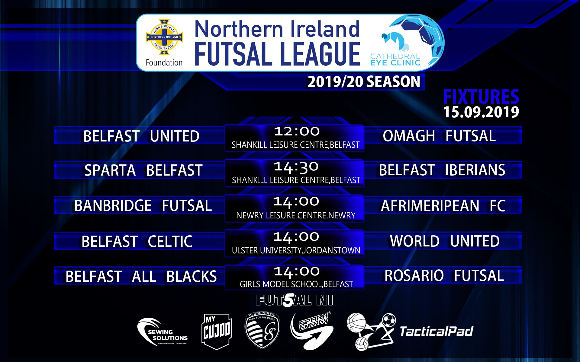 Cathedral Eye Clinic sponsors Northern Ireland National Futsal Development