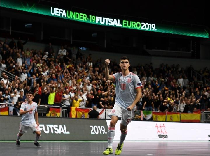 Spain defeated Croatia lifted the first-ever Men's U19 UEFA Futsal EURO 2019