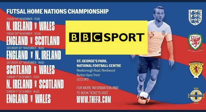 Northern Ireland 3 Wales 9 - Home Nations Futsal Championships 2019