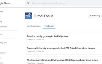 Futsal Focus accepted to Google News