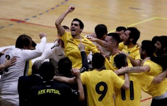 The biggest success in AEK's futsal history was achieved in the Champions League