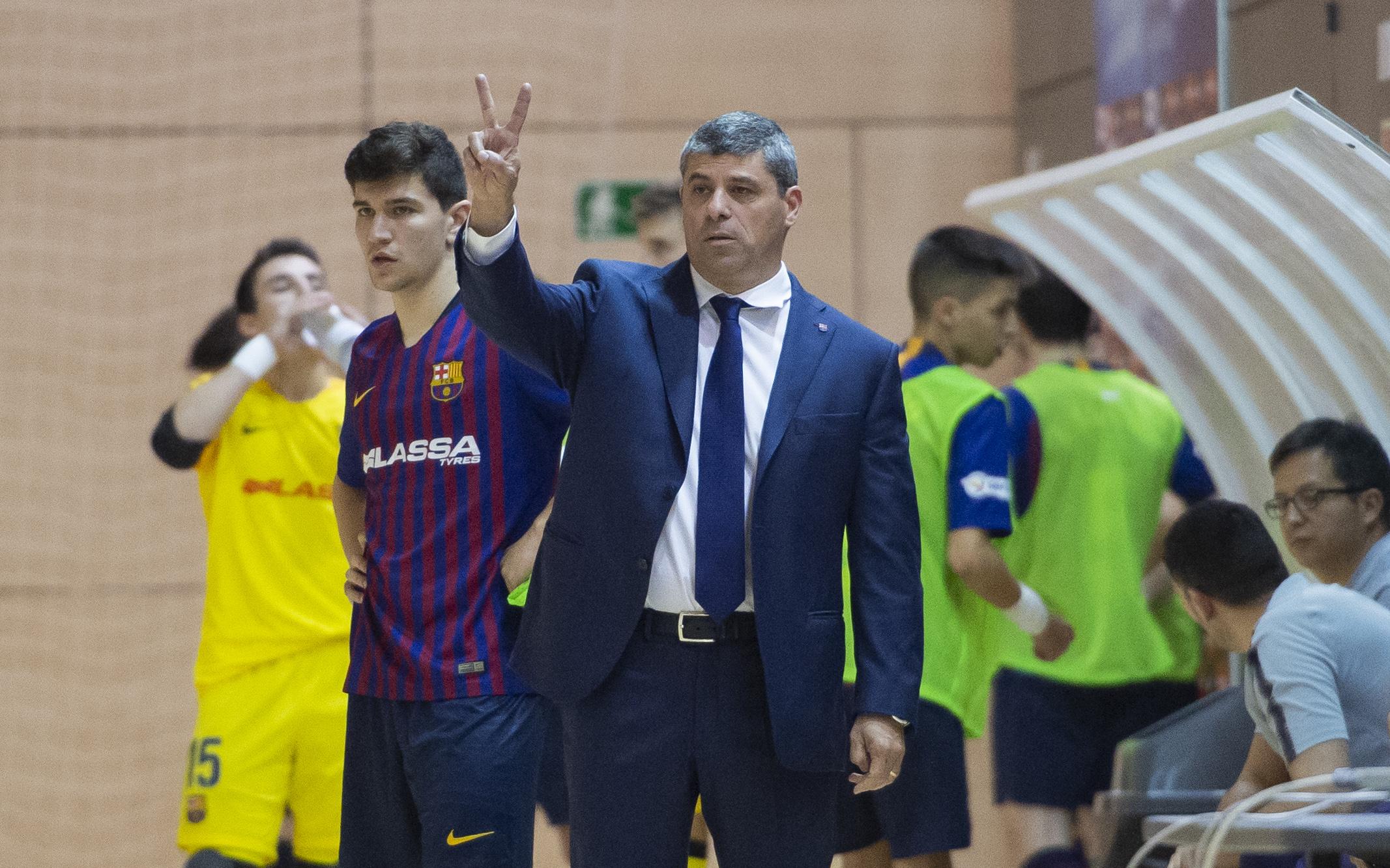 Xavier Closas, Head Coach of Barcelona's B team discusses futsal with Futsal Focus
