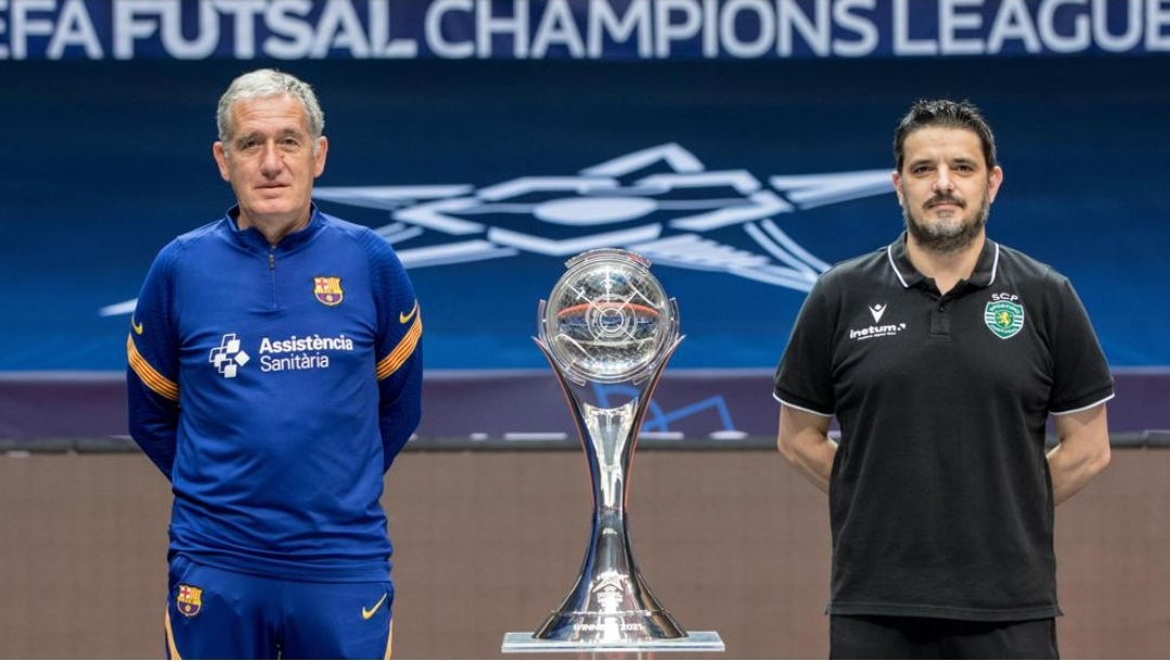 Sporting face holders Barca in the UEFA Futsal Champions League final 2021