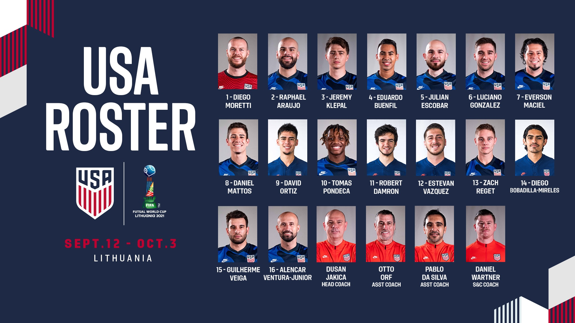 The United States of America taking on the Group of Death - 2021 FIFA Futsal World Cup