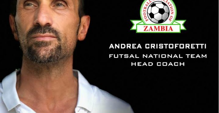 Andrea Cristoforetti new head coach of the Zambia National Futsal team