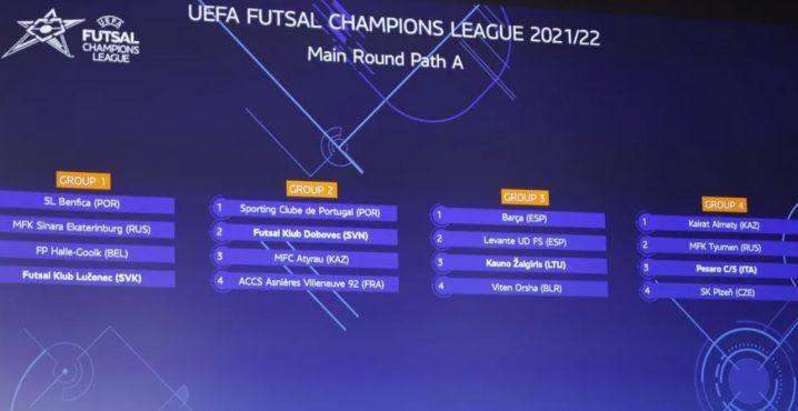 On the 26 October the UEFA Futsal Champions League main round kicks off